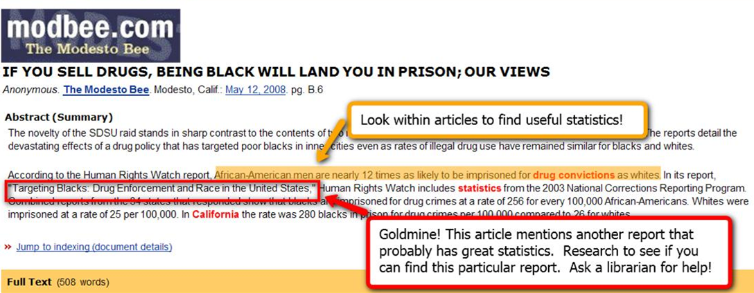 this is an image of a web article that shows a part of the text highlighted - in the text you can see statistics embedded.