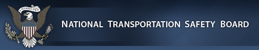 logo of the National Transportation Safety Board
