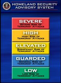 Homeland security threat level image