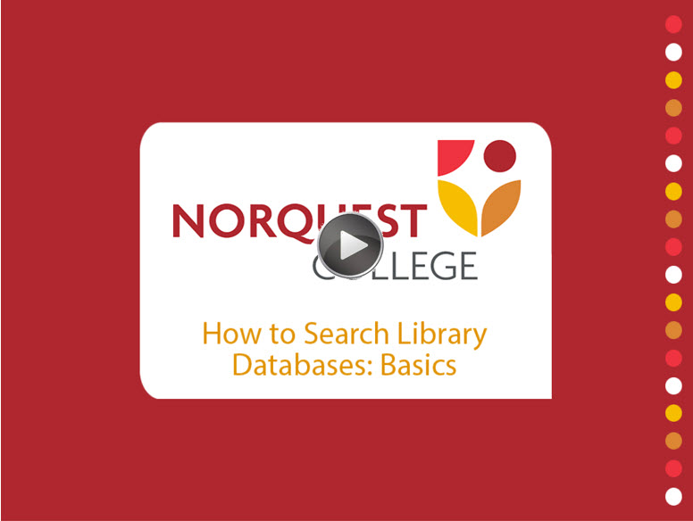 how to search library databases basics