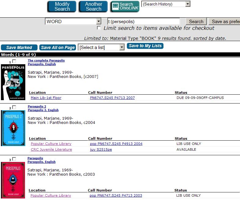 Search results screenshot