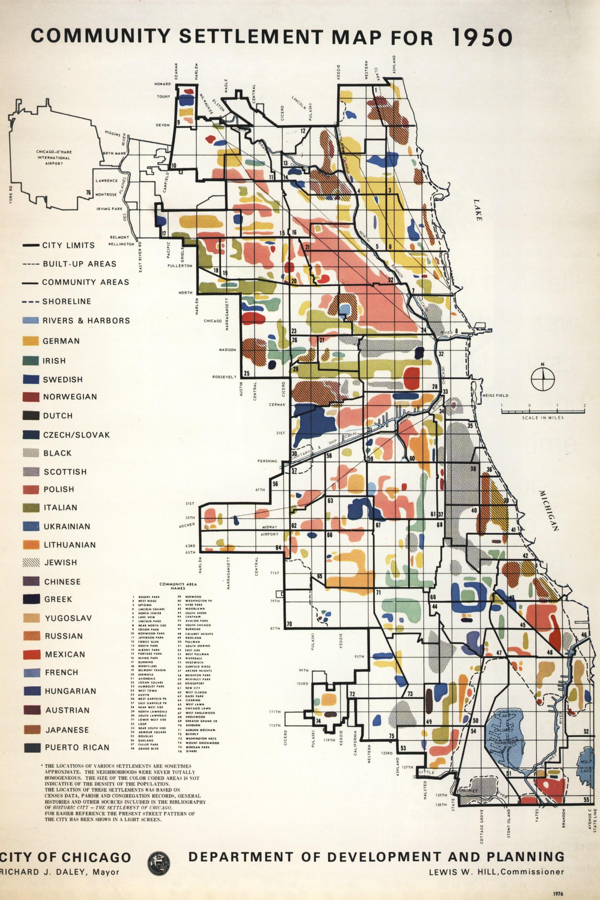 Community Settlement Map for [Chicago] 1950