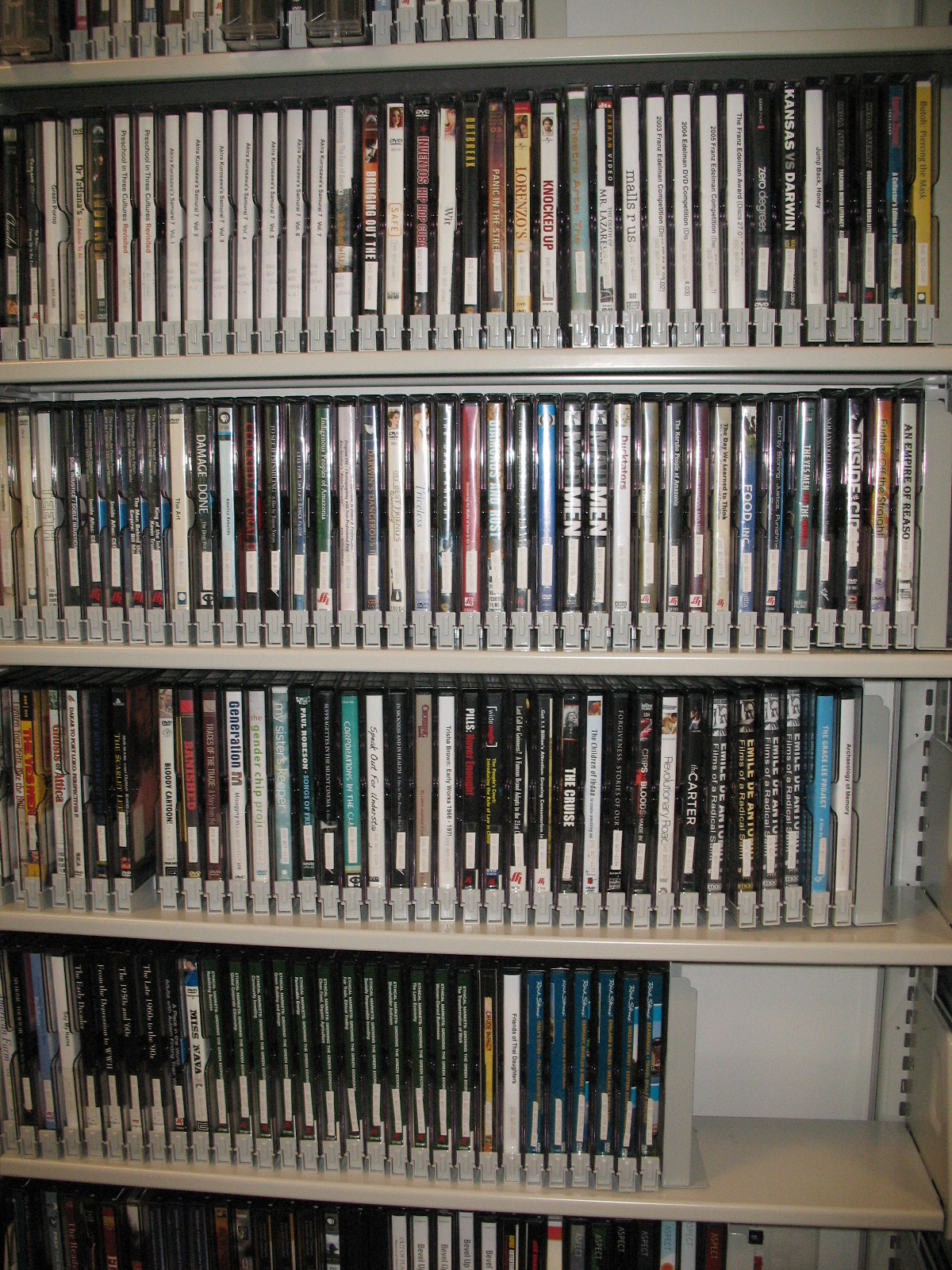 DVDs at the Campus Library