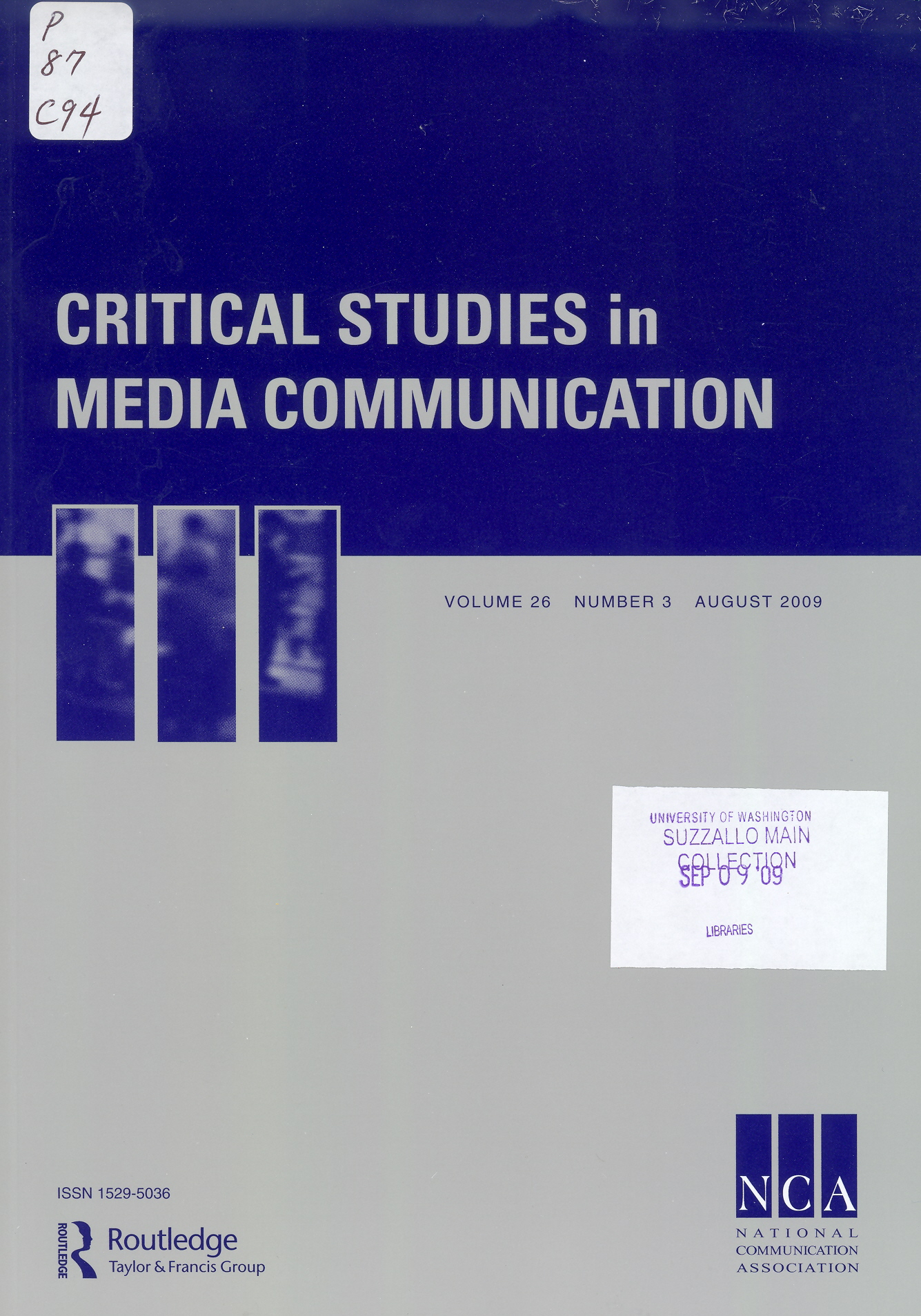 Critical Studies in Media Communication journal cover