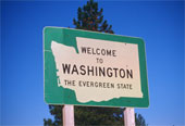 Welcome to Washington sign