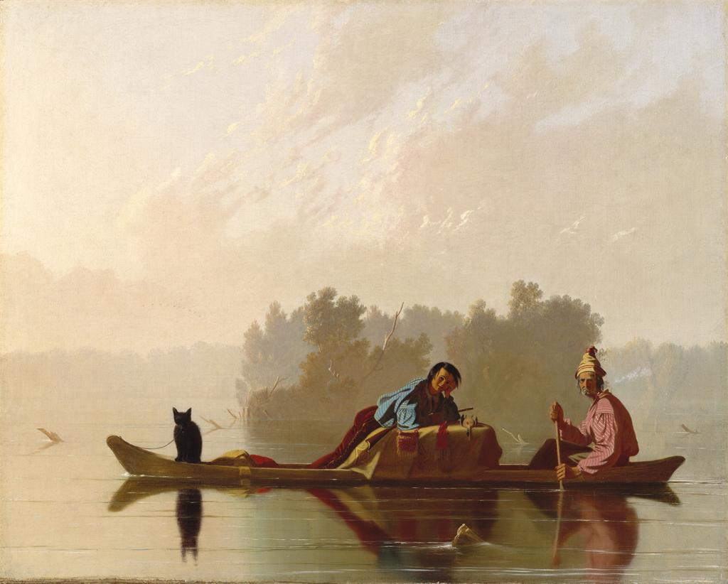 """Fur Traders Descending the Missouri,"" painting"