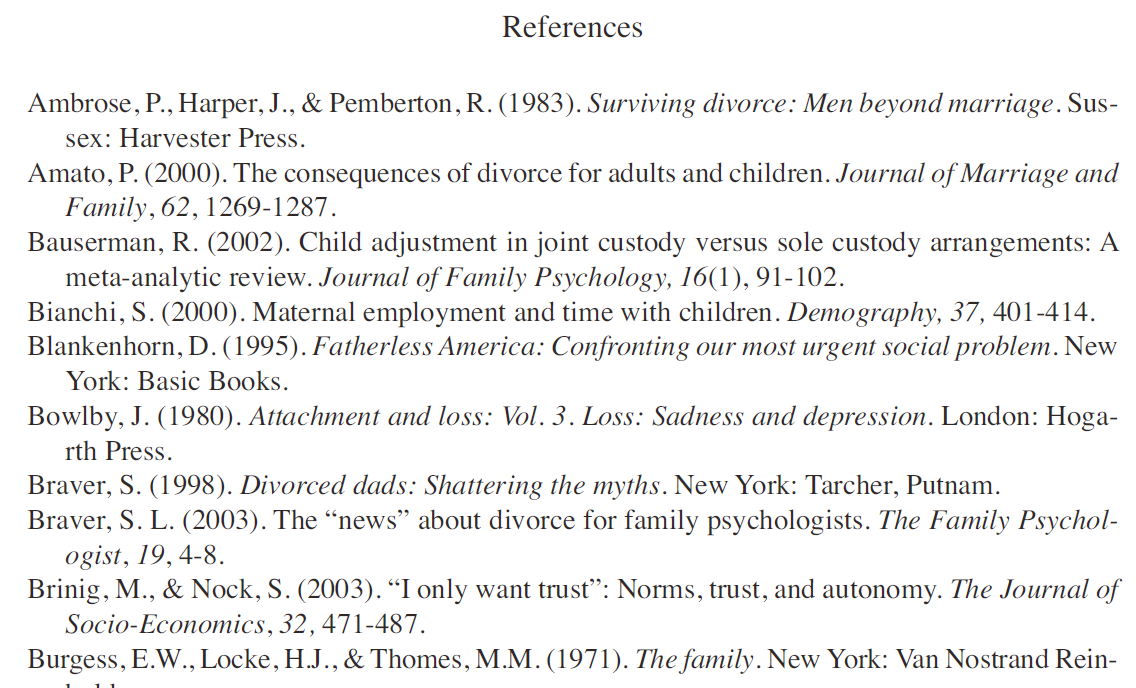 This image shows the reference page where the citations are listed out.