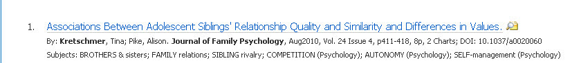 this is a screenshot of the record for the article in a database page. It shows the title, followed by additional info about the article, such as the title of the publication it comes from, the date, the author, the length, etc.