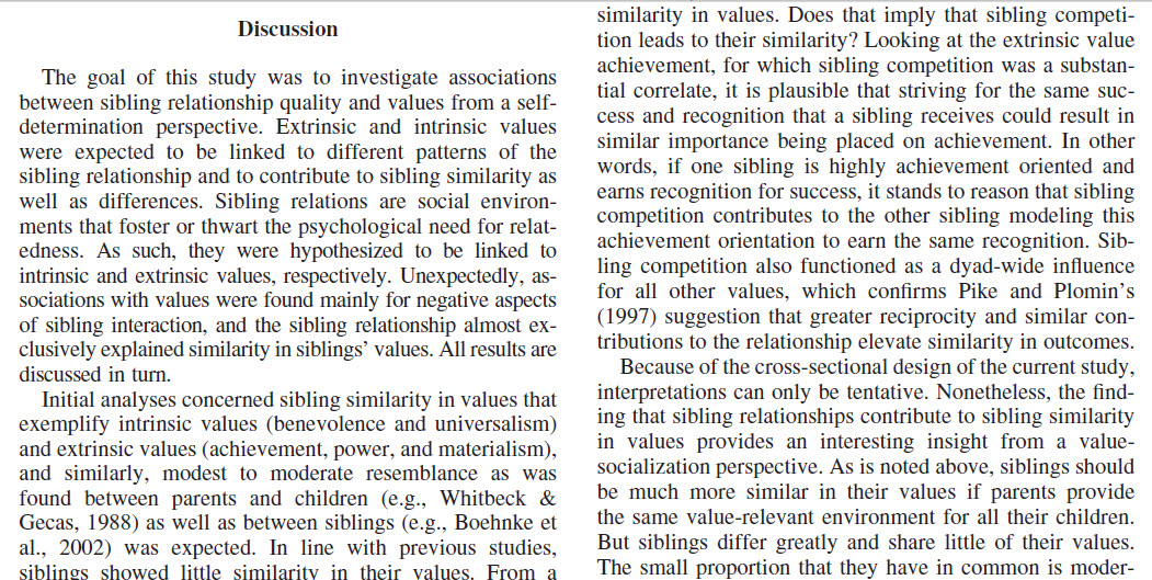 This is a screenshot of the discussions portion of the article, showing the discussion and conclusion of the study.