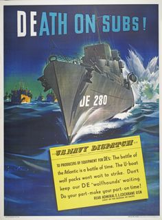 World War II poster, Production Poster, Death on Subs