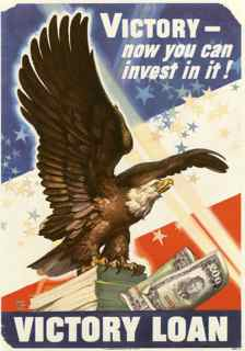 World War II poster, Victory now you can invest in it! Victory Loan