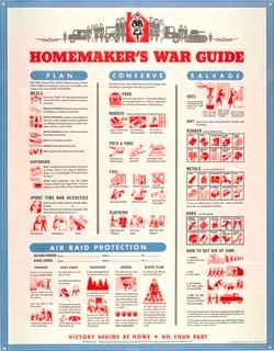 World War II poster, Homemaker's war guide.