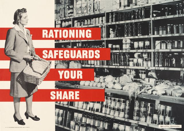 World War II poster, Rationing safeguards your share