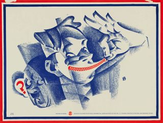 WWII Poster, Zipped Lips