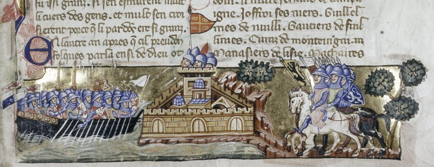 Attack of the Crusaders on Constantinople Source: La Conquête de Constantinople of Geoffreoy de Villehardouin, Venice, ca. 1330