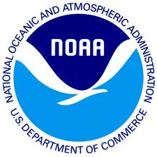 NOAA logo blue over white bird