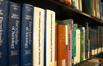 Sociology encyclopedias in the Dana Porter Library's reference collection