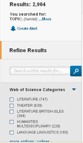 refinements for Hamlet search