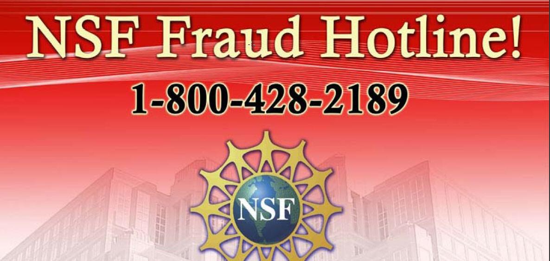 nsf fraud poster