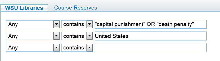 "top line: ""capital punishment"" OR ""death penalty"" - next line: United States"
