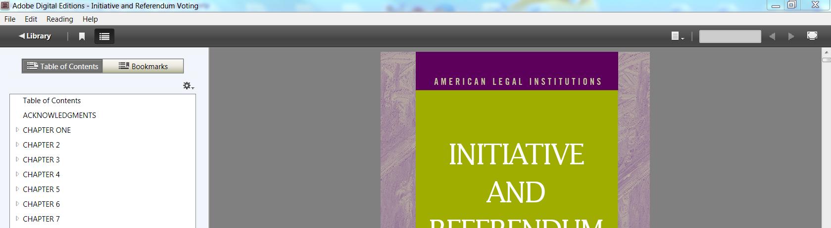 top of ebsco ebook as it looks opened in adobe digital reader