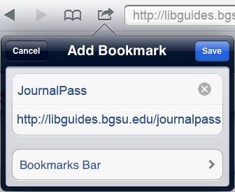 Add bookmark screenshot in Safari