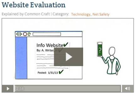 Commoncraft Video on Website Evaluation