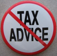 no tax advice