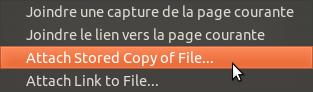 Menu joindre un fichier