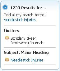 lower result list of 1,238