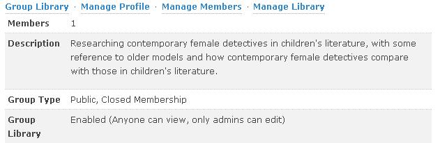 screen shot of online Zotero account groups options