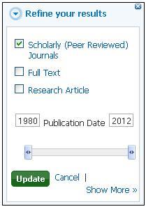 peer reviewed limited selected