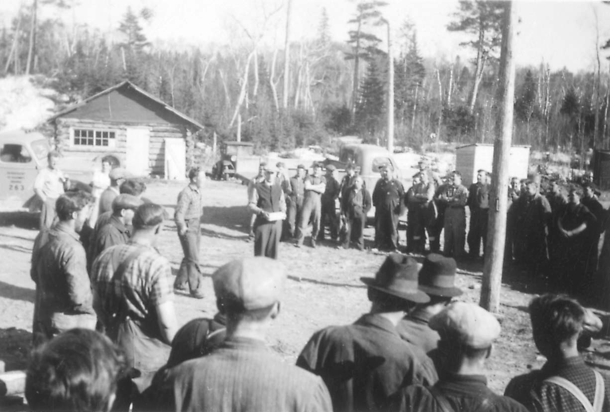 Conscientious objectors arriving at Montreal River camp