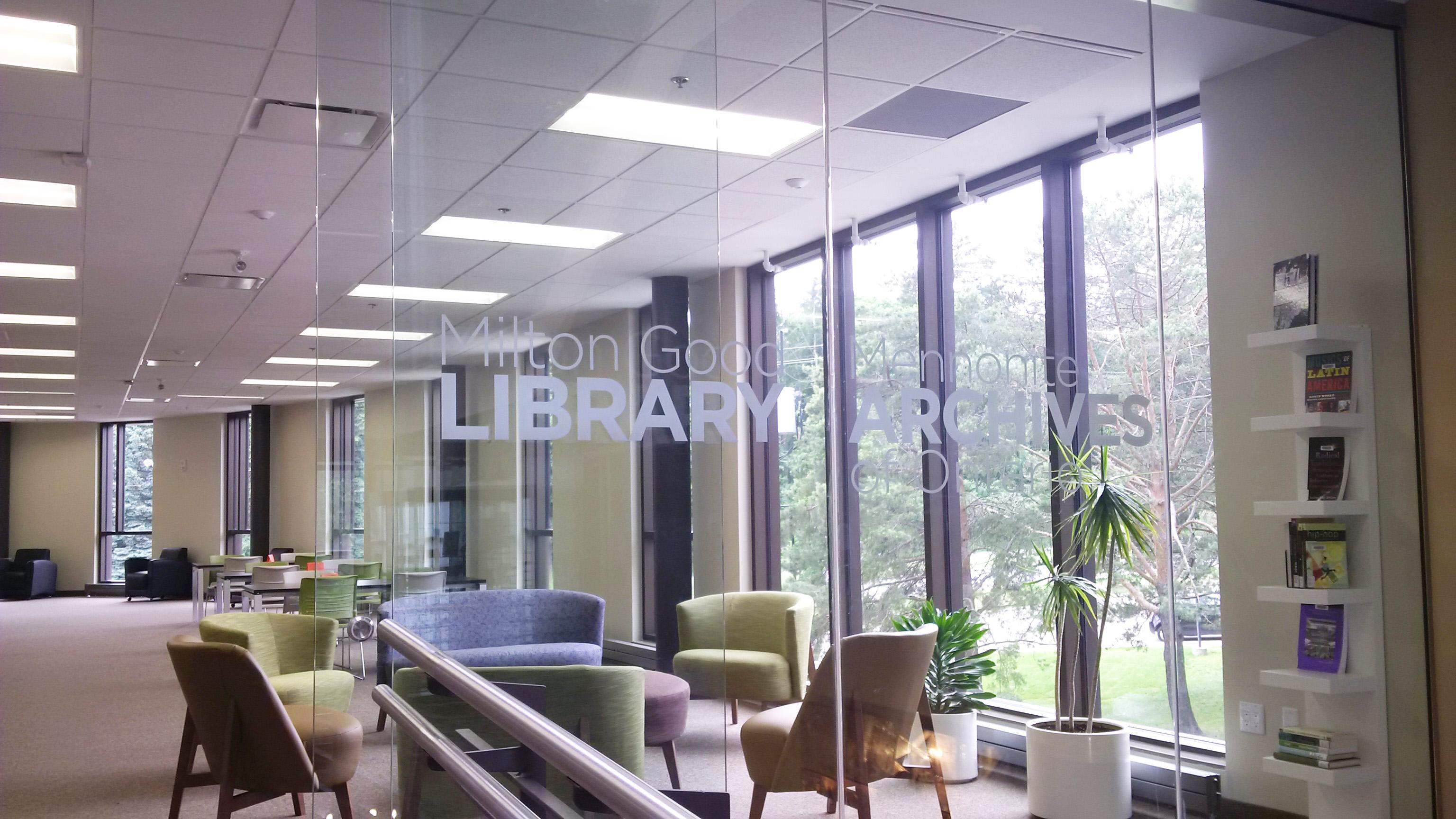 Entrance to the Milton Good Library