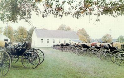 Old Order Mennonite meetinghouse, 1947