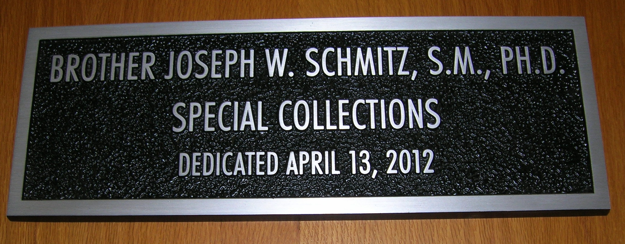 Special Collections sign