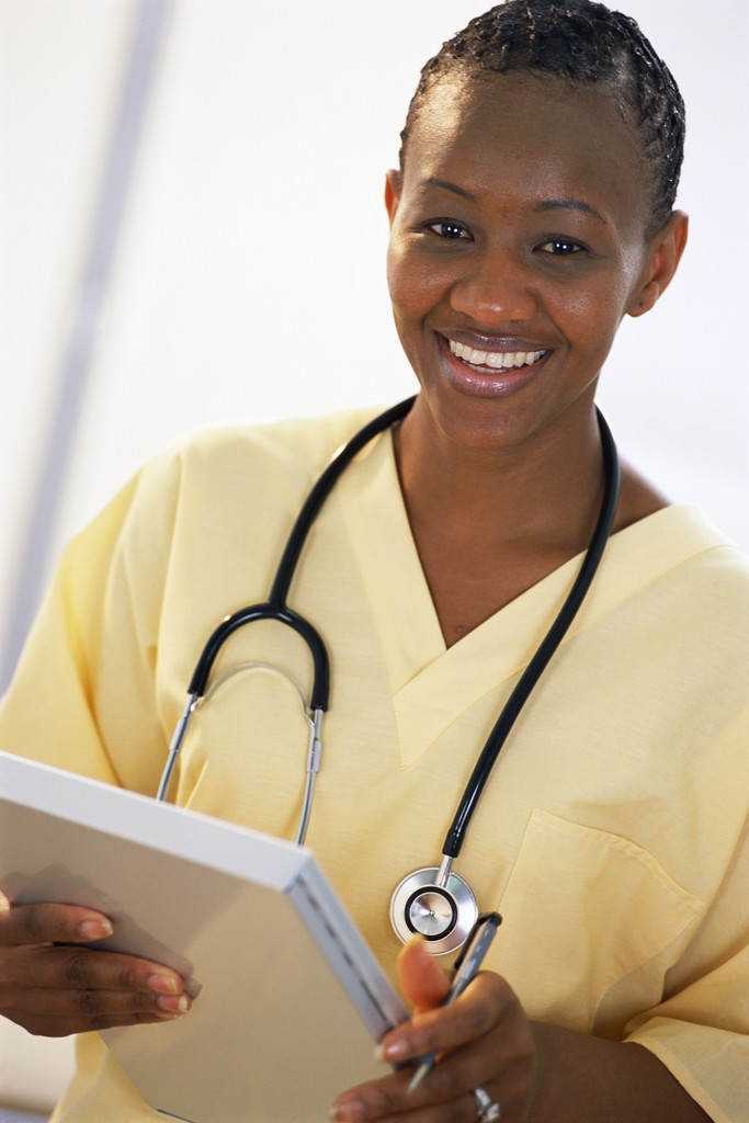 female nurse; image source Microsoft
