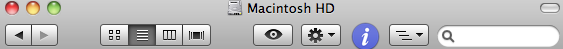 Finder window icons