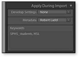 Apply During Import
