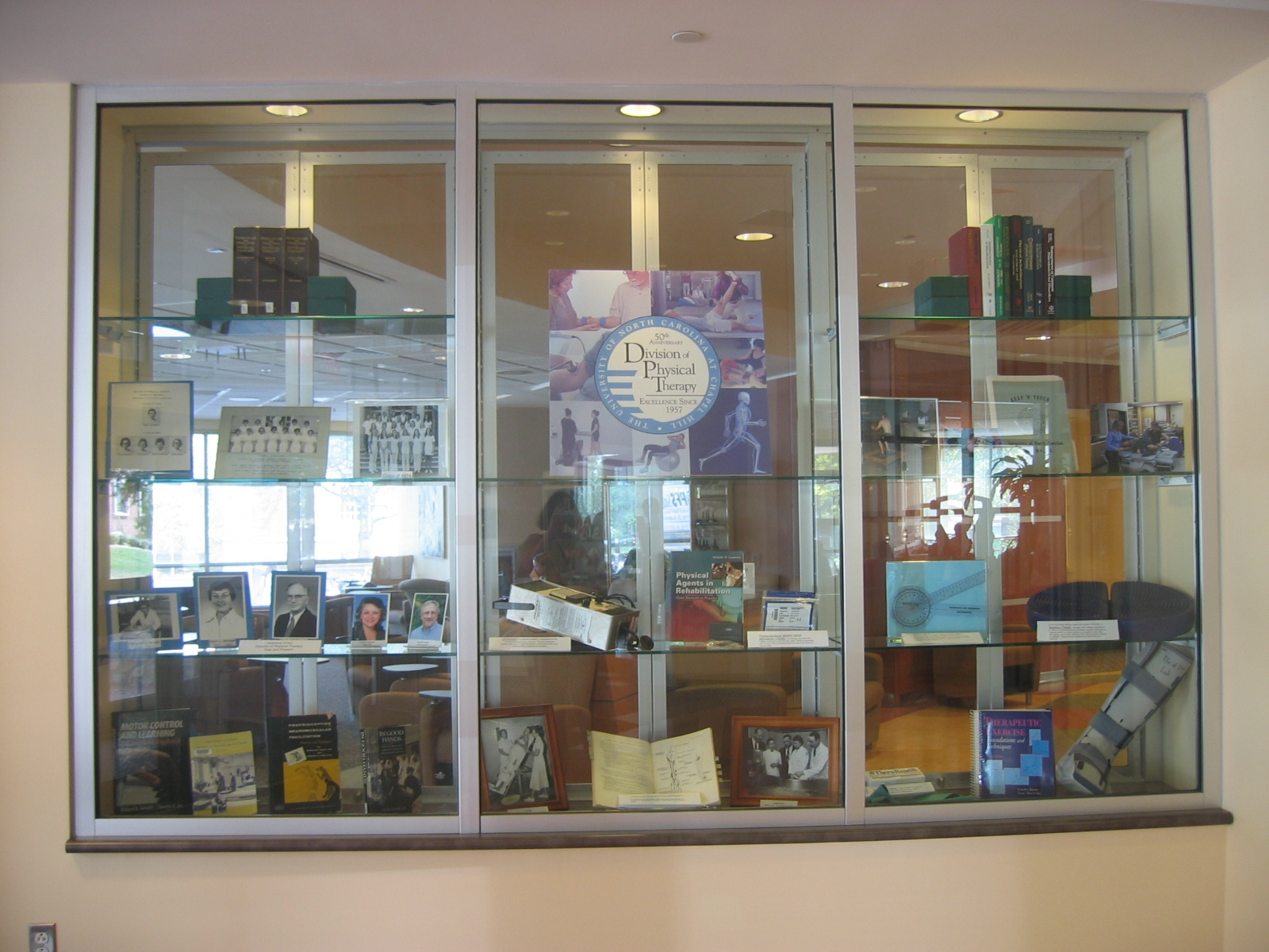 Division of Physical Therapy 40th Anniversary Exhibit Photo September 2007 – February 2008