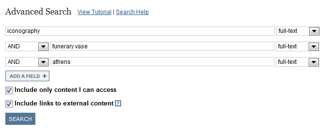 screenshot of JSTOR search with three rows