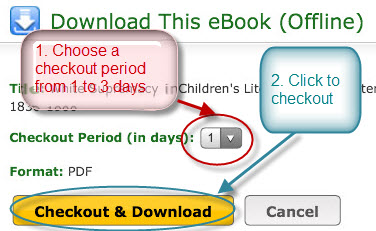 EBSCO checkout on iPad