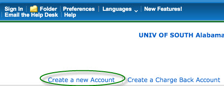 EBSCO Create an Account