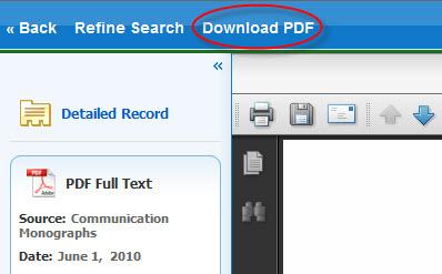 Downloading a PDF