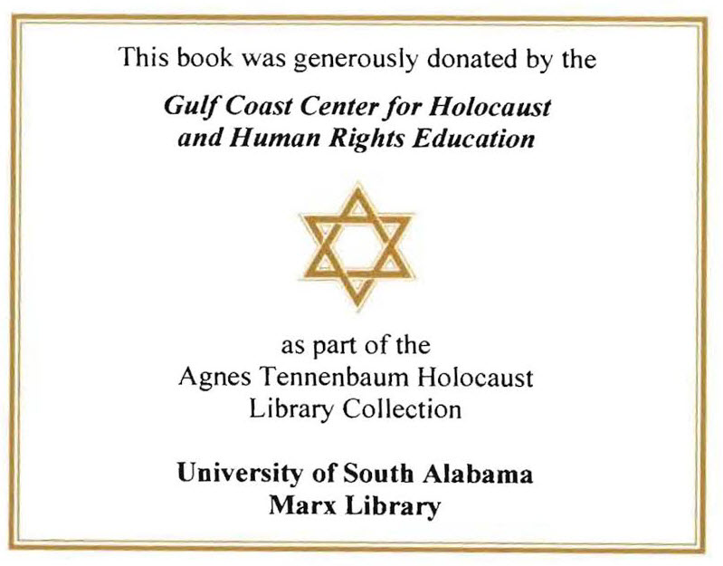 Holocaust Collection Bookplate
