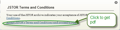JSTOR Terms and Conditions
