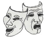 Image of smiling and frowning drama masks