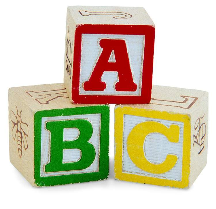 Picture of child's ABC blocks