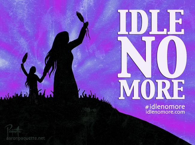Idle No More movement poster.