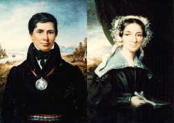 Portraits of Peter and Eliza Jones